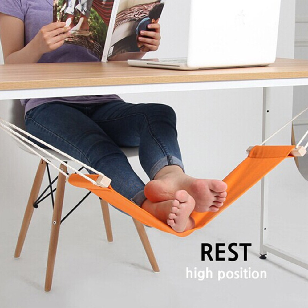 High Quality Orange Black and White Stripes Stopover Hammock Foot Relax Tools For Home Office Study Room Foot Decoration Crafts