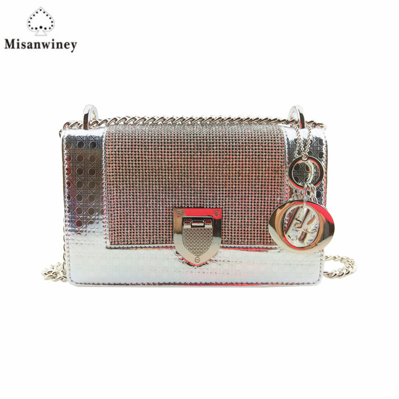 Luxury Brand Women Chain Messenger Bags Leather Shoulder Bag Chain Handbag Clutch Purse Famous Designer Locks Crossbody Bags Sac luxury brand handbags crossbody bags for woman fashion purse clutch velvet shoulder bag famous designer women handbag sac a main