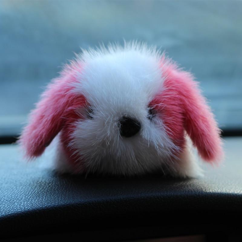 The new stay Meng fur fur ornaments Copenhagen mink hair husky small Meng dog car loaded dead rabbit dog цена и фото