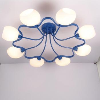 Múltiplo lustre de teto sala estar iluminação sala estar lâmpadas moderno e minimalista led lâmpada flor mediterrâneo zx180