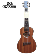 Ukulele Samll Guitar Sapele 23 inch Open Knob Musical Stringed Instruments 4 Strings Guitar 17 Frets Ukulele Guitars UC-QUE1 small guitars 23 inch 4 strings ukulele full flame maple classical guitar acoustic guitar profession musical instruments uc a6