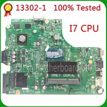 SHUOHU 13302-1 for dell INSPIRON 3446 3549 3449 3546 laptop motherboard dell motherboard i7 CPU orginal 100% tested motherboard(China)