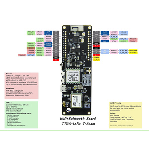 Image 4 - TTGO t луч ESP32 WiFi беспроводной Bluetooth модуль ESP 32 gps NEO M8N LORA32 gps NEO M8N IPEX 18650 Держатель батареи
