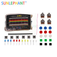Electronics component pack with 30 Kinds 600PCS Resistance Kit resistors, LEDs, Switch, Potentiometer for UNO, MEGA2560(China)