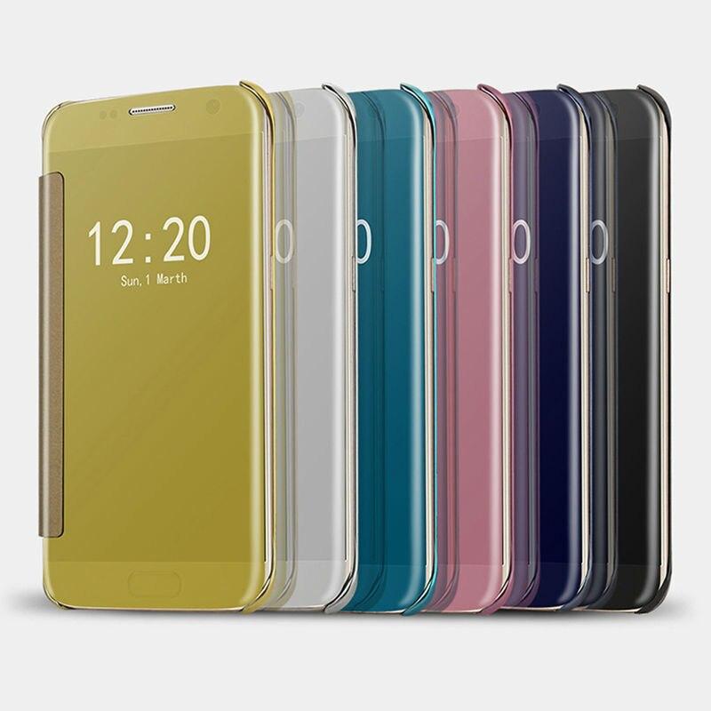 Superficie del espejo accesorios del teléfono móvil flip case para xiaomi 5 mi5