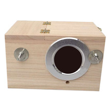 4 Sizes Wooden Nest Box Pratical Breeding Boxes for Small Birds Budgies Finches Solid Bird Cage Breeding Nest цена