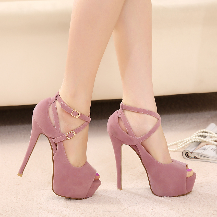 Women Fashion Platform Ankle Strap Party Shoes Woman Sexy High Heels Open  Toe Stiletto Pumps MK238 12-in Women s Pumps from Shoes on Aliexpress.com  ... f888c51d9e