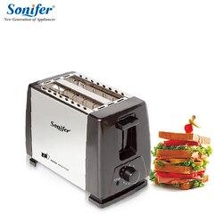 2 ломтика нержавеющей стали тостер Автоматическая Быстрый нагрев хлеб тостер бытовой завтрак maker Sonifer