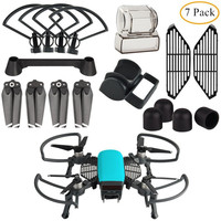 7 in 1 Kit Accessories Propeller Guard with Foldable Landing Gear, Lens Hood, Gimbal Camera Guard, Propellers for DJI SPARK