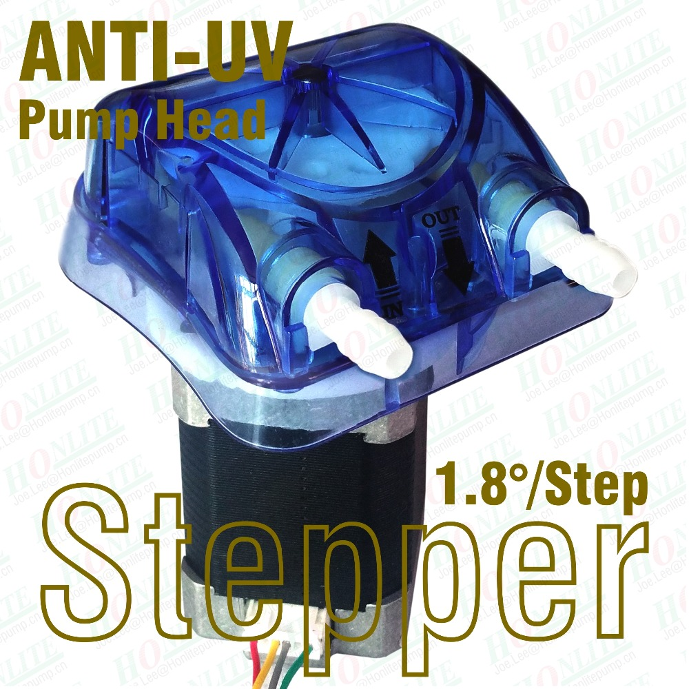 500ml/min, 24Vdc 1.8/step Stepping peristaltic pump with ANTI-UV replaceable pump head and FDA approved PharMed BPT Peri-tube bpt dbad10