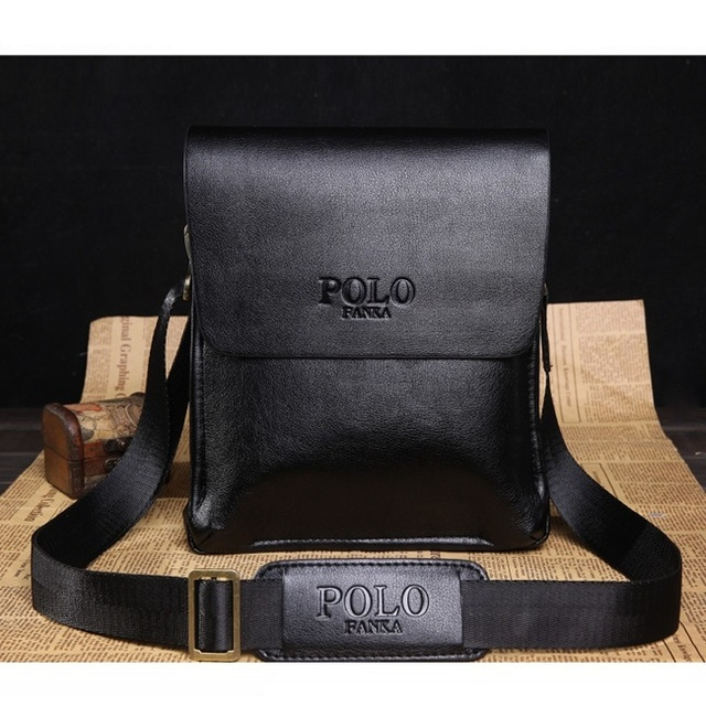 New 2014 Fashion POLO Bag Men s Travel Bags Men Messenger Bags 100% Genuine Leather  Shoulder Bag Free Shipping 77b8822e35eb9