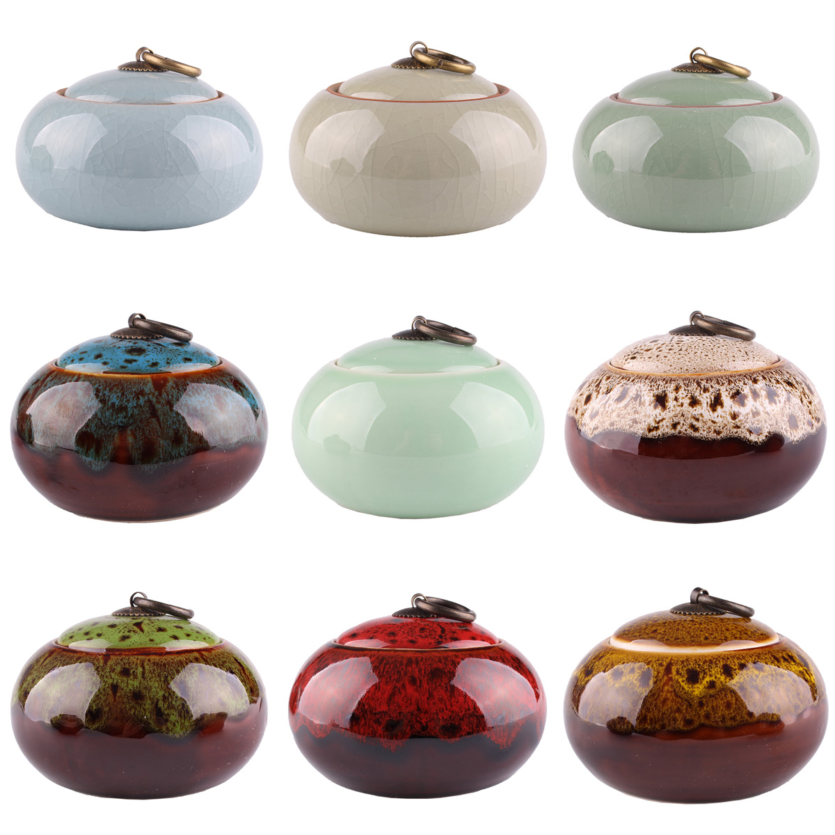9 styles china Ceramic Tea Spice Nuts Food Sealed Storage Bottles Jars Container Caddy Sugar Salt Storage Tank Canister U-pick