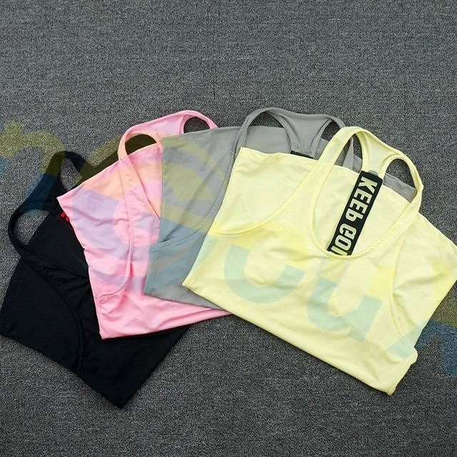summer women Gym sports vest Sleeveless shirt Fitness running Clothes sexy Tank tops workout Yoga singlets Quick dry Tunics 3