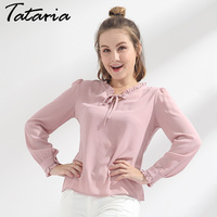 Blusas Femininas 2017 Spring Chiffon Blouse For Women S Shirt Long Sleeve White Office Top Fungus