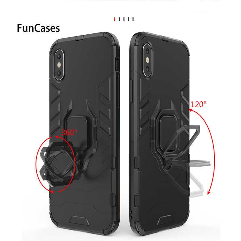 Para Huawei P 2019 Inteligente Caso Companheiro 20 P20 Pro Lite Pro Lite P30 Pro Lite Titular Estande Anel de Metal magnéticos Casos de Cobertura de Volta Armadura