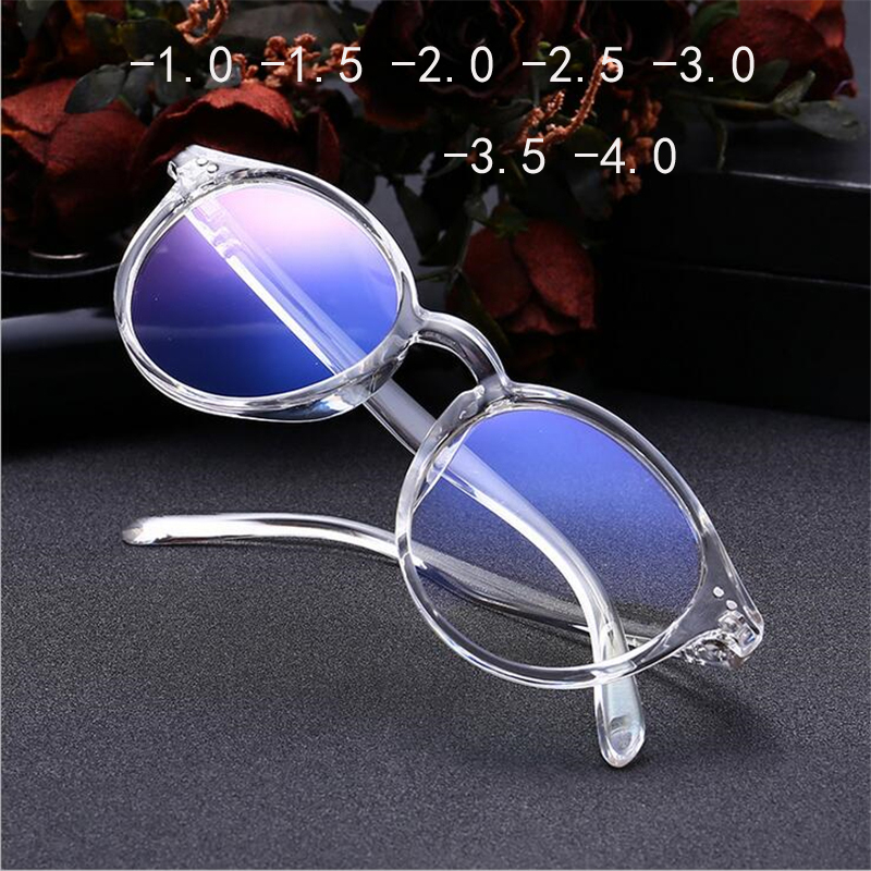 -1 -1.5 -2 -2.5 -3 -3.5 -4 Finished Myopia Glasses Women Short-sight Eyewear Black And Transparent Frame Women Myopia Glasses(China)