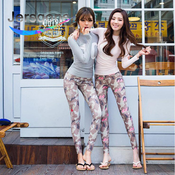 Jersqons 2019 Women Swimming Suit Printing Covered Surfing Long Sleeves and Pants Rash Guards Two Piece Suits Swimwear