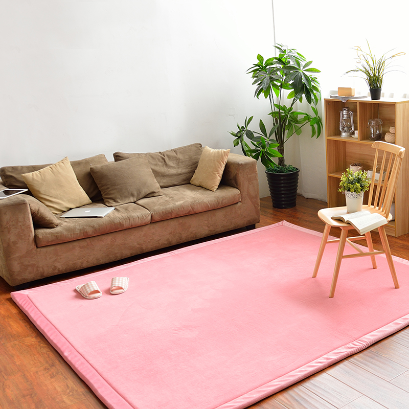 Infant Shining 2CM Thick Mats Rectangle Carpet 3 Sizes Rugs Coral ...