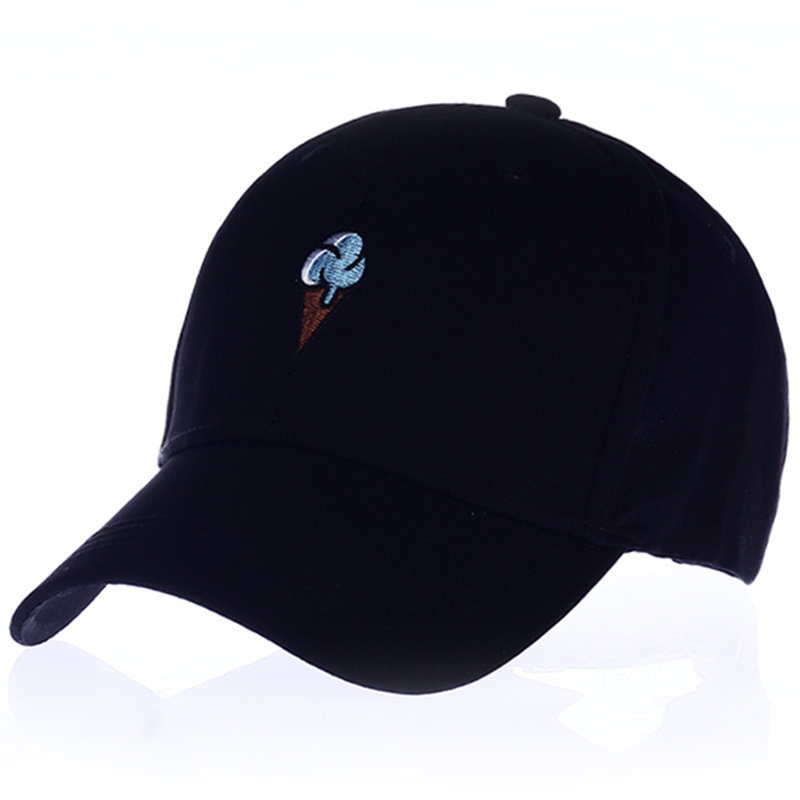 VORON Men Women Causal Ice Cream Embroidery dad   cap   men women Curved Strapback   Baseball     Cap   Hat Adjustable 2017 new