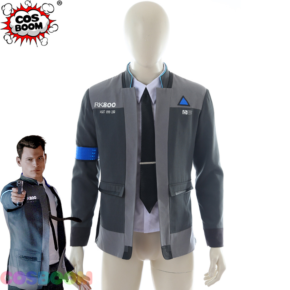 COSBOOM Game Detroit : Become Human Connor Cosplay Costume Men's RK800 Outfit Uniform Halloween Carnival Costume