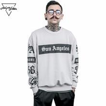 Aelfric Eden балахон мужской толстовка мужчины скейтборд спортивный костюм Одежда в стиле хип-хоп негабаритных Kanye West с принтом тигра SWAG толстовки