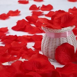 Image 5 - 500pcs משי רוז עלי כותרת חתונת קישוט מזויף פרח עלי כותרת קונפטי אירוסין יום נישואים מסיבת בית דקור אבזרים