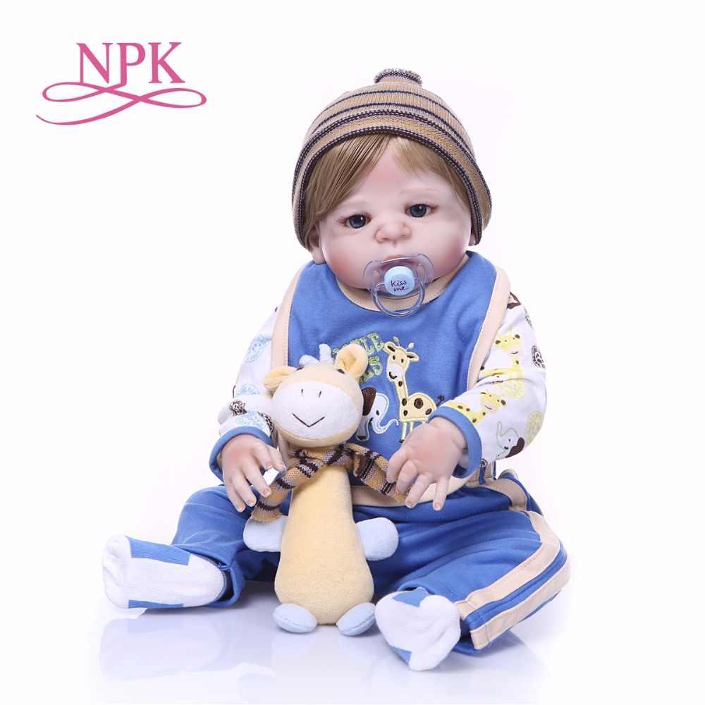 NPK Brinquedos de Vinil Silicone Renascer Baby Doll Lifelike Boneca Reborn Completo Criança Natal Presente de Aniversário BRINQUEDO QUENTE para a menina