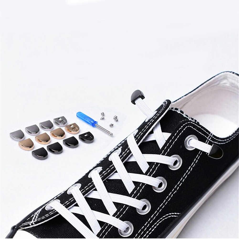 ง่ายยืดหยุ่นไม่มี Tie Shoelaces กีฬากลางแจ้ง Trainer วิ่ง Sneaks รองเท้า laces รองเท้า DIY ของแข็งไนลอน Shoelaces ที่มีสีสันร้อน