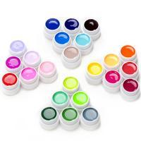 24pcs 5ml UV Gel Nail Polish LED UV Lamp Curing Color Gels Polish Professional Decoration Painting Nail Art Gel Set
