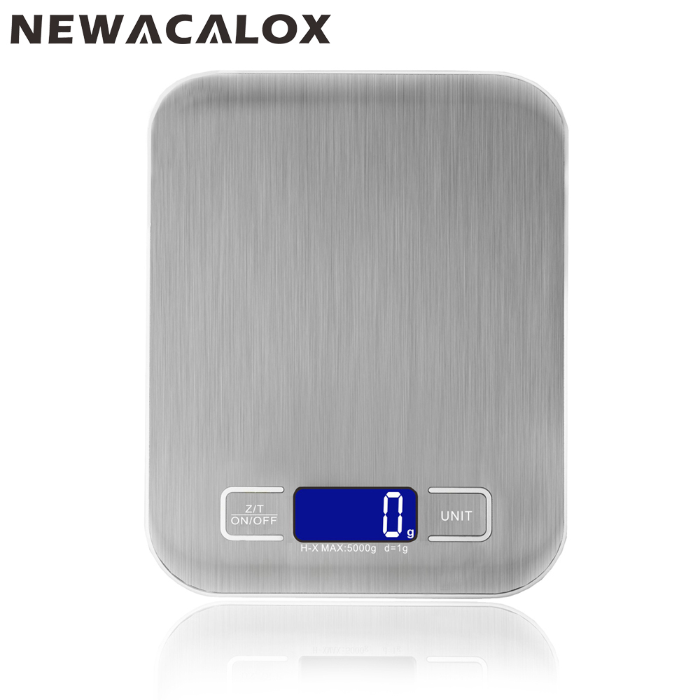 NEWACALOX 5kg*1g Cooking Tools Electronic Kitchen Scale Food Die Postal Balance LCD Display Digital Weighing Health Scales купить в Москве 2019