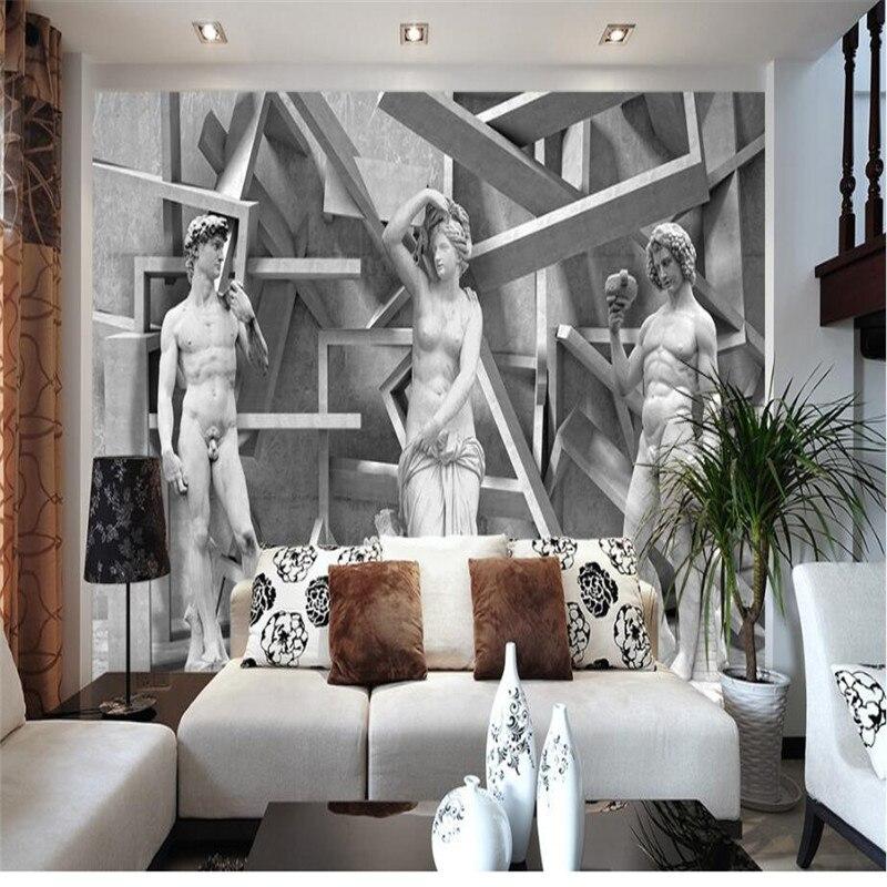 Benutzerdefinierten Hintergrund Fototapete Skizze Skulptur Charakter  Wandverkleidung TV Sofa Schlafzimmer Wandbilder Moderne Tapete Wohnkultur  In ...