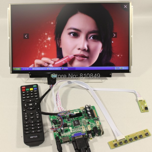 HDMI+VGA+AV+Audio+USB FPV Control board+13.3inch 1366*768 N133BGE LP133WH2 lcd screen model lcd for Raspberry Pi  hdmi vga av audio usb fpv control board 14inch ltn140at26 lp140wh1 1366 768 lcd screen model lcd for raspberry pi