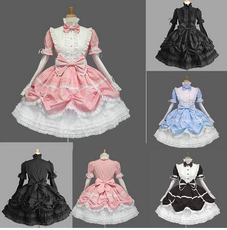 Women Long Tiered Layered Victorian Gothic Lolita Dress Halloween Cosplay Costumes for women Vintage Ball Gown Retro Lace Dress