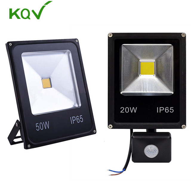 b66df3e1550 Mini PIR Sensor LED Flood Light 50w 30w 20w 10w 220v Ultal Thin Led Flood  Light Motion Sensor Outdoor Exterieur Spotlight lamp