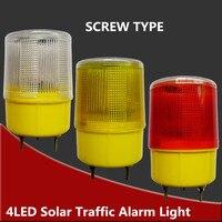 Işıklar ve Aydınlatma'ten Güneş Lambaları'de Güneş Enerjili Trafik Işığı  beyaz/sarı/kırmızı LED Güneş Güvenlik Sinyali Beacon Alarm Lambası Güneş acil durum led'i flaşlı uyarı lambası