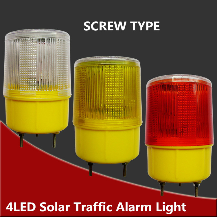 Solar Powered Traffic Light,white/yellow/red LED Solar Safety Signal Beacon Alarm Lamp Solar Emergency LED Strobe Warning Light цена