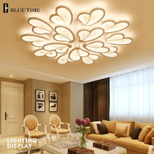 White Modern Led Ceiling Light For Living Room Kitchen Bedroom Fixtures Acrylic Led Ceiling Lamp Lustres Home Lighting Fixtures цена