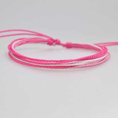 Nieuwe Collectie Handgemaakte Wax String Multicolor Water Proofing Armbanden Nylon Koord Charm Vriendschap Verstelbare Voor Vrouwen Mannen Geschenken