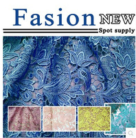 Heavy Grade Water Soluble Lace Fabric Spring Tulip Hollow Three Dimensional Embroidery Brand Apparel Exported To