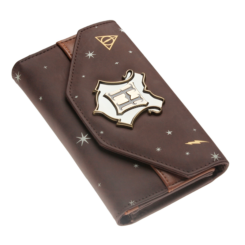 Hogwarts Crest Faux Leather Tri-Fold Women Wallet