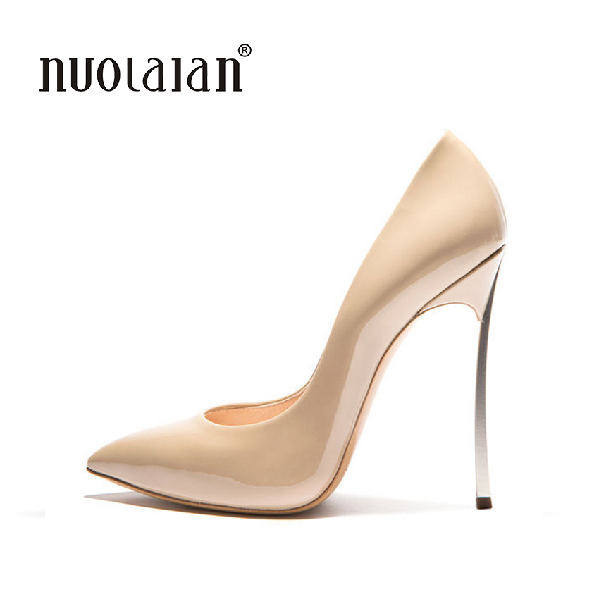 2018 Brand Shoes Woman High Heels Women Pumps Stiletto Thin Heel Women's Shoes Pointed Toe High Heels Wedding Shoes size 35-42 brand shoes woman high heels women pumps pointed toe wedding shoes 10cm metal heel women shoes high heels pumps shoes b 0113 page 9