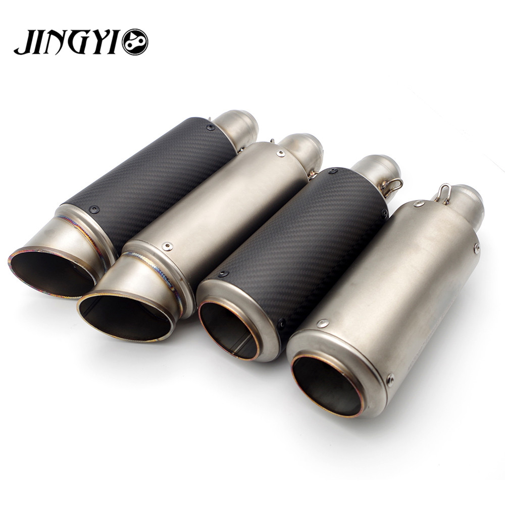 Universal Stainless Steel Motorcycle Exhaust Pipe loud silencieux moto escape Muffler FOR YAMAHA FAZER1000 FZ600 FZ6N FZ1000