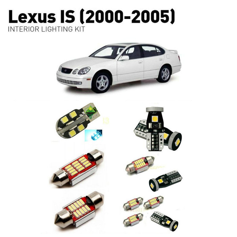 Led interior lights For Lexus is 2000 2005 12pc Led Lights For Cars lighting kit automotive bulbs Canbus in Car Light Assembly from Automobiles Motorcycles