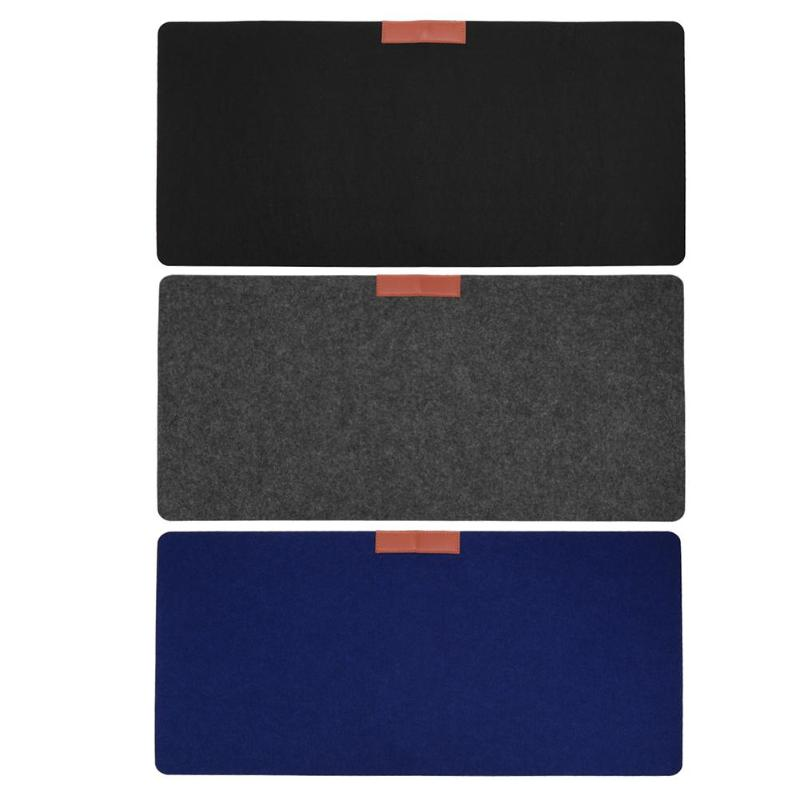 3 Colors Soft Wearable Mice Pad Office Computer Desk Mat Modern Table Wool Felt Laptop Cushion Large Mouse Pad Gaming Mouse Pad