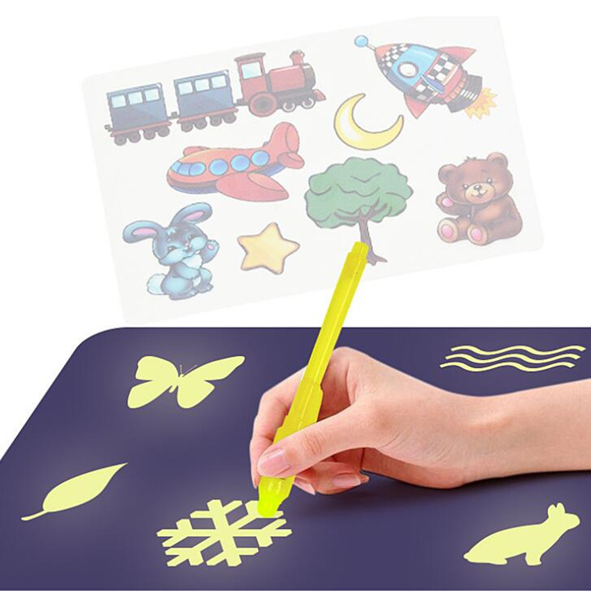 HTB1BL8IeEuF3KVjSZK9q6zVtXXaK - Educational Toy Drawing Board Tablet Graffiti 1pc A4 A3 Led Luminous Magic Raw With Light-fun