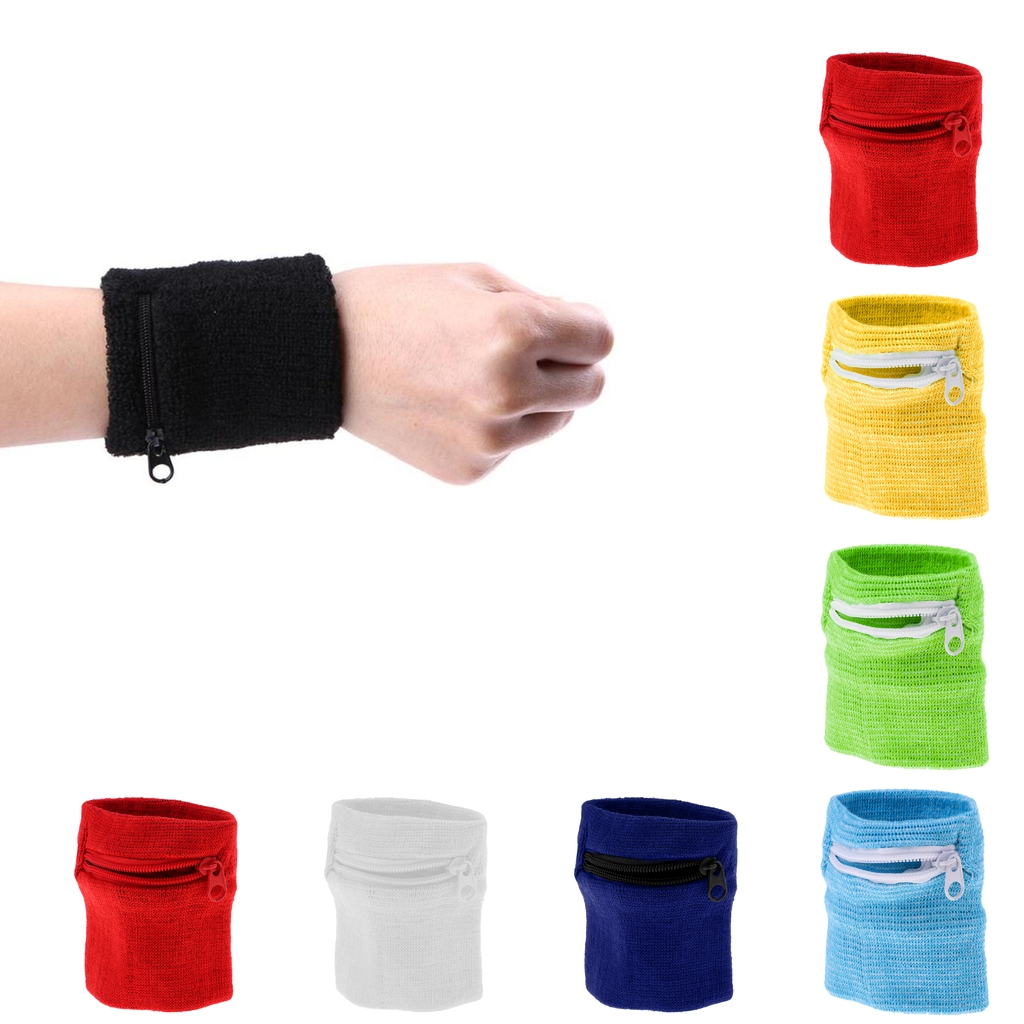 Unisex Sport Gym Travel Running Wallet Wrist Band Zipper Pocket For Key Card Money