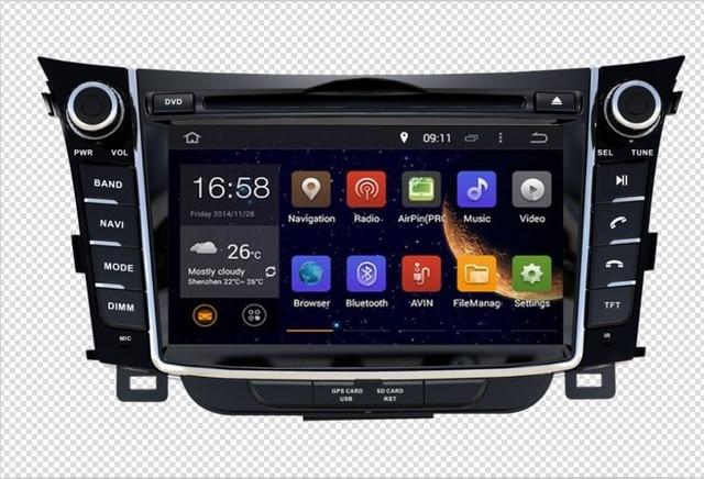 9b9af5880928 RAM 2GB HD Android 7.1 Fit Hyundai i30 2012 2013 2014 2012-2018 CAR DVD  player Multimedia Navigation GPS NAVI Radio AUDIO STEREO