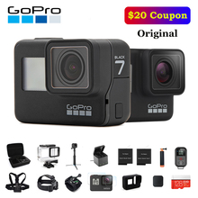Оригинальная Экшн-Камера GoPro HERO 7 Black 4K 60fps 1080P 240fps video Go Pro Sport cam 12MP фото wifi Live Streami Hyper Smooth