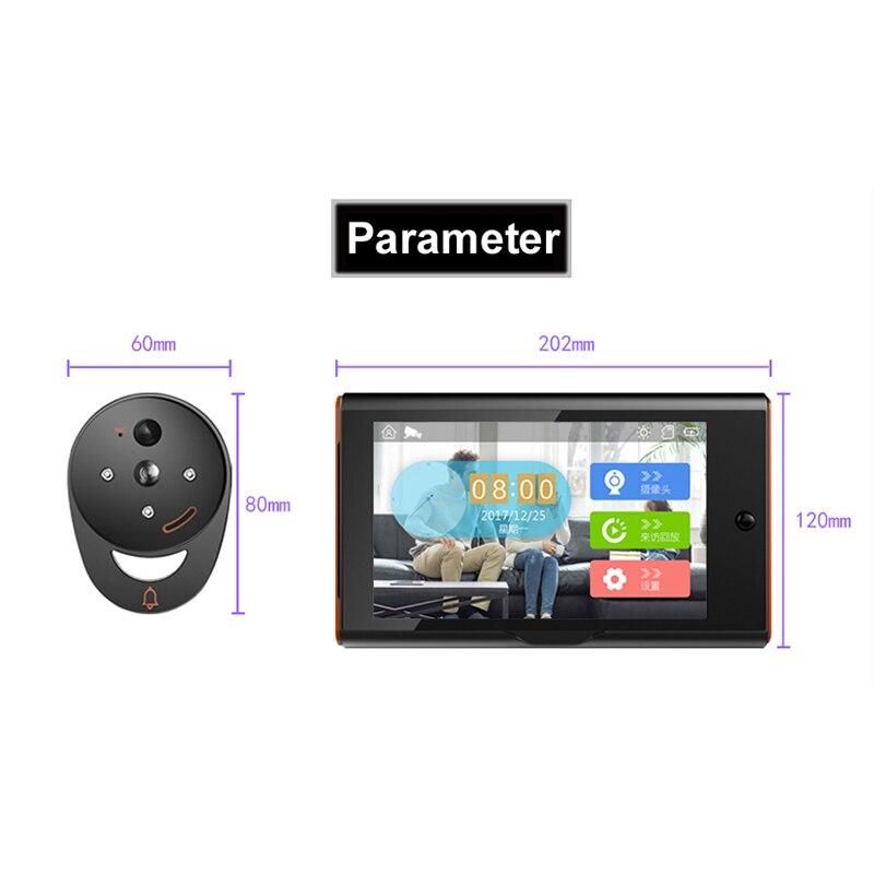 Купить с кэшбэком 7 Inch Wireless Digital Peephole Viewer Home Security Smart Video Doorbell Pir Motion Detection&Recording 170 Degrees Angle   #8