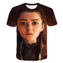 Summer Style Hip Hop Men T-shirt Tops Arya Stark S Tee Tshirt Game Of Thrones Vintage Tees T Shirt Lannister House